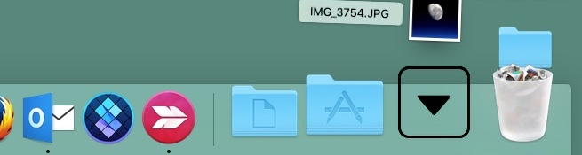 how to put downloads folder into dock mac