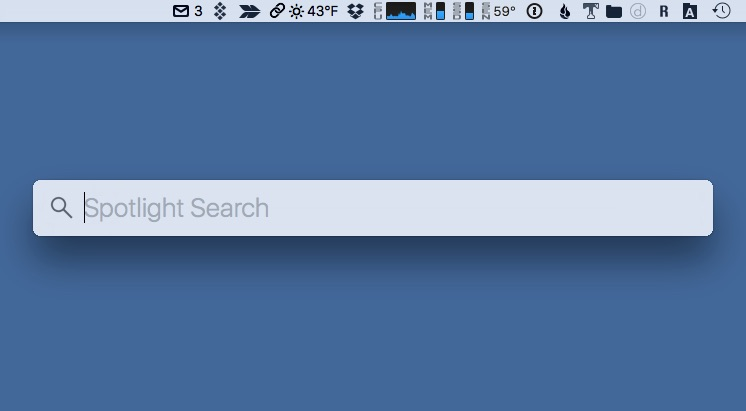 How to: Move the macOS Spotlight Search Bar to Another Screen Location