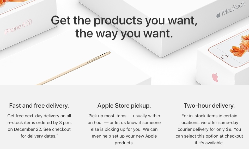 Apple Offers Free Next-Day Delivery of Last-Minute Holiday Gift Purchases