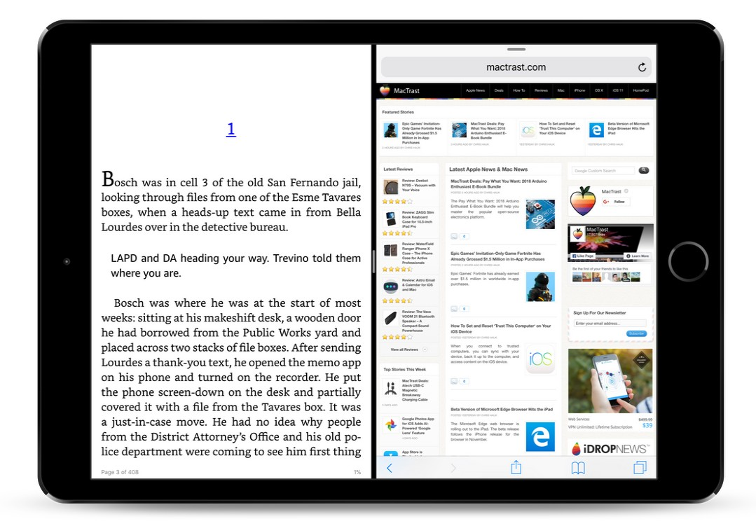 Amazon Kindle App for iOS Adds Split View Support for iPad
