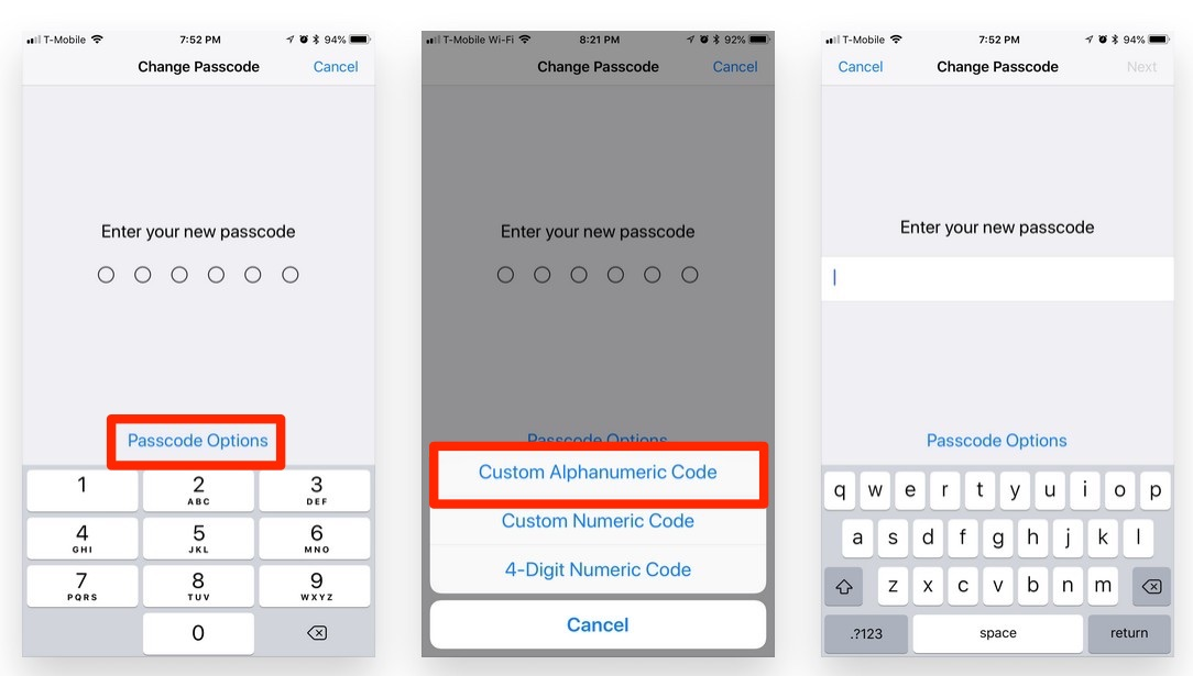 how to change your passcode on iphone