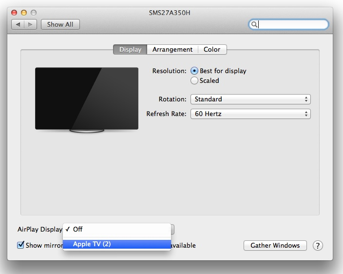 How To Use Your Apple TV as a Second Display in OS X Mavericks