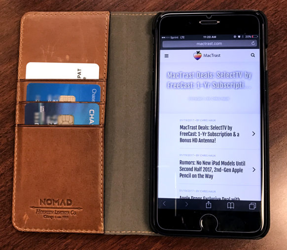 big sale ce36a 17428 Review: Nomad Leather Folio - A Classy Wallet Case for iPhone