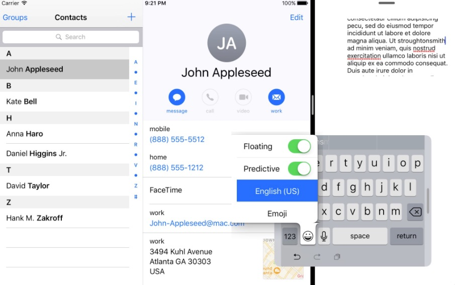 iOS 10.3 Beta Code Includes Hidden One-Handed Keyboard for 9.7-inch and Smaller iPads