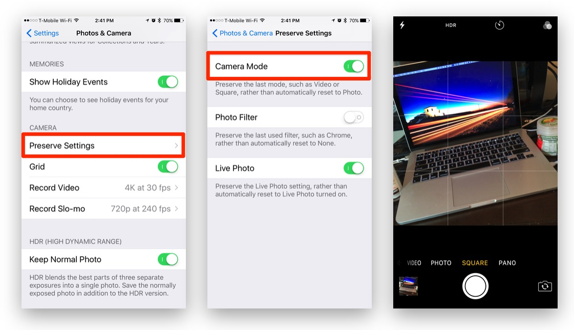 How To: Set & Preserve Your Favorite Camera Mode on Your iPhone