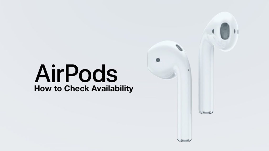 AirPods Availability