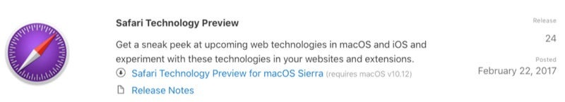 Apple Releases Safari Technology Preview 24