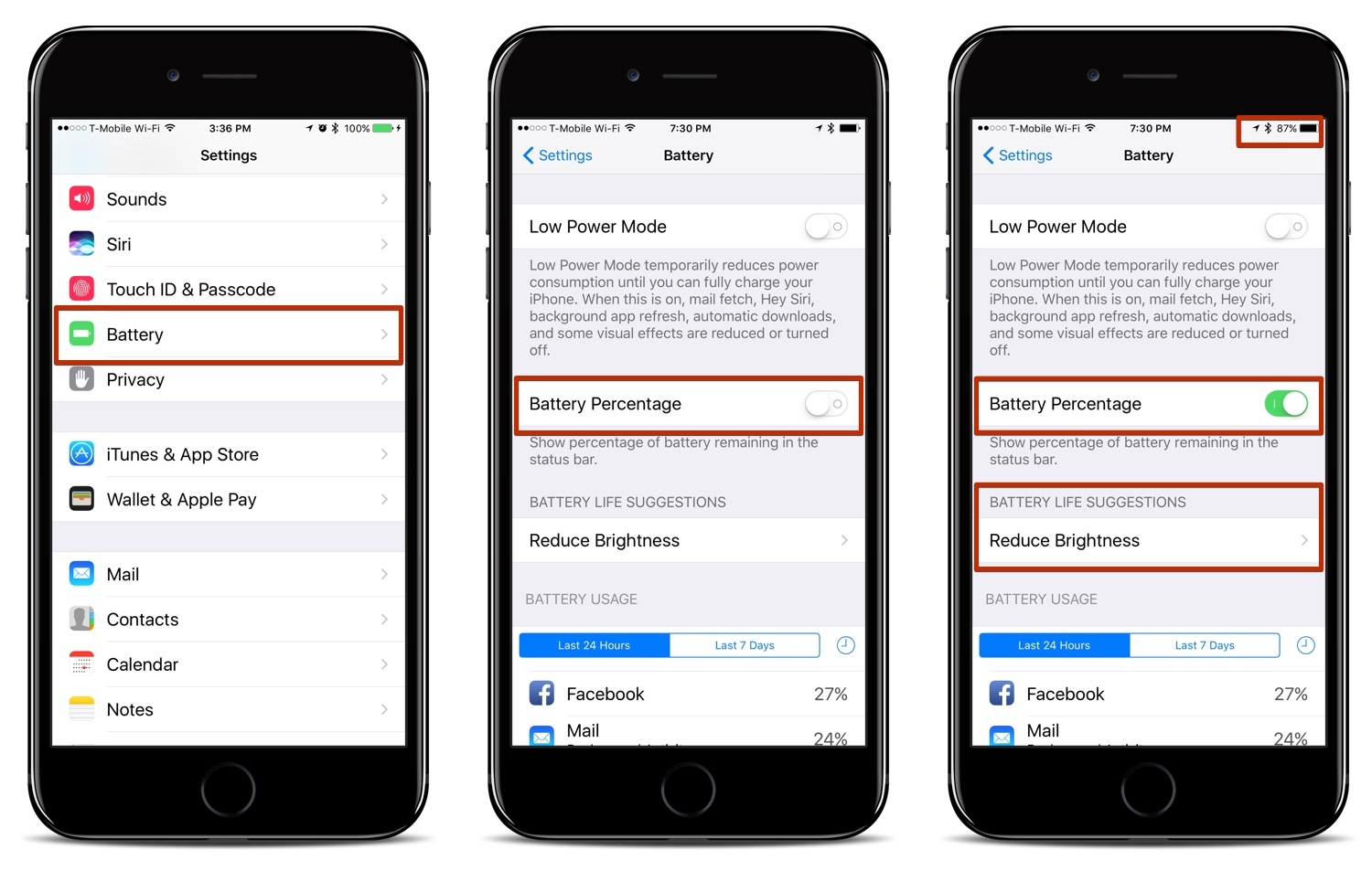 how to turn on battery for iphone