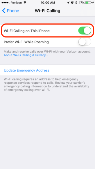 "How to Improve your iPhone cell coverage with ""Wi-Fi Calling"""