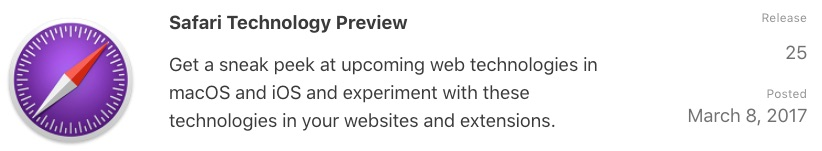 Apple Releases Safari Technology Preview 25 for Mac