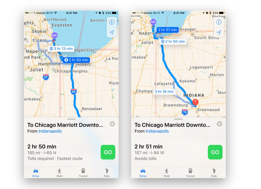 How To Avoid Toll Roads When Using Navigation in iOS 10 Apple Maps Indiana Toll Road Map on pennsylvania turnpike, ohio turnpike, interstate 90 in illinois, indiana road map online, interstate 90 in minnesota, interstate toll roads map, interstate 90 in ohio, ohio turnpike map, indiana and illinois road map, chicago skyway, indiana map with exit numbers, indiana road conditions map, dan ryan expressway, indiana road map detailed, ohio and indiana road map, tri-state tollway, indiana school map, indiana i-69 road map, indiana highway map, us toll roads map, toll roads usa map, kennedy expressway, toll roads in illinois map, lake station, borman expressway, interstate 95 in new york, u.s. route 40, west virginia turnpike, massachusetts turnpike, indiana tollway map, i-69 martinsville indiana map, indiana i-69 route map, indiana on us map, indiana kentucky road map, tri-state tollway map,