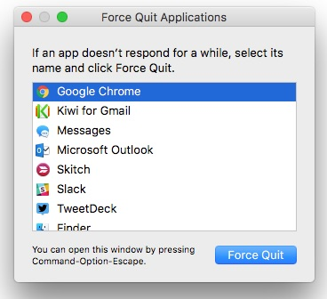 How to Quickly Force Quit an App in macOS