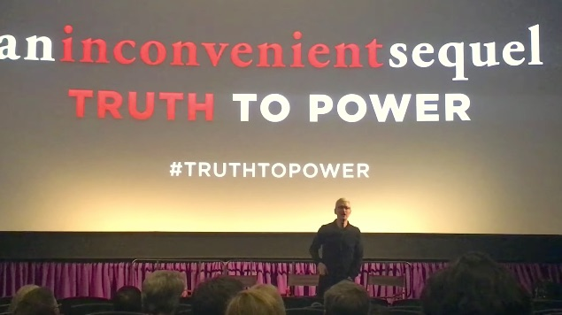 Tim Cook Introduces Al Gore's 'An Inconvenient Sequel: Truth to Power' at Silicon Valley Screening
