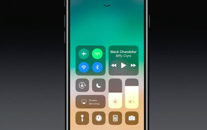 iOS 11 beta Redesigned control center