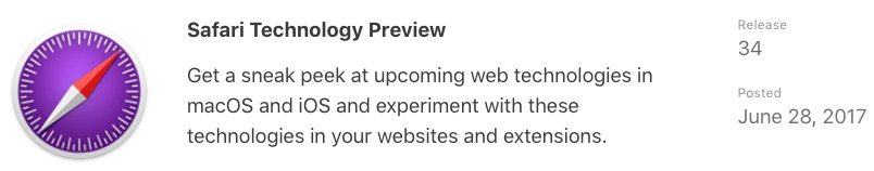 Safari Technology Preview 34 for Mac Release Offers Bug Fixes and Performance Improvements