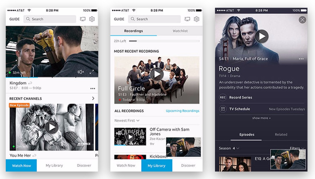 DirecTV NOW to Gain Cloud DVR, Redesigned User Interface