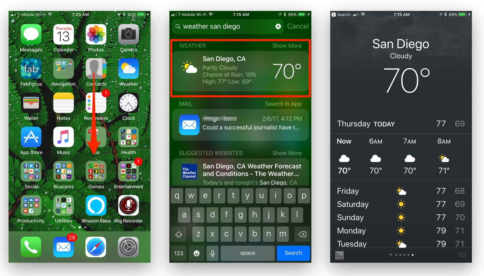 How to Get a Quick Weather Report for Any Location on your iOS Device