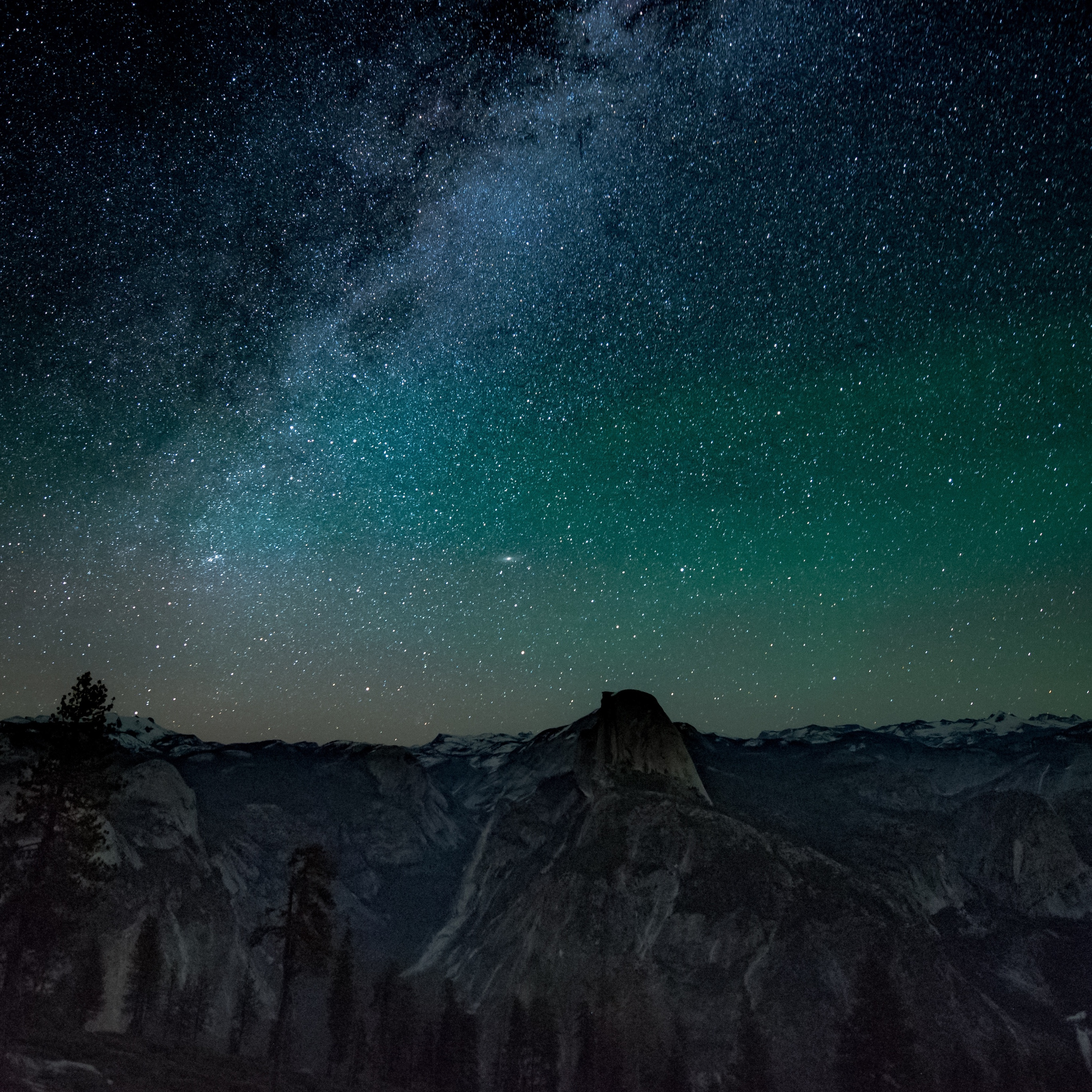 Wallpaper Weekends Night Sky Over Yosemite For Mac Ipad