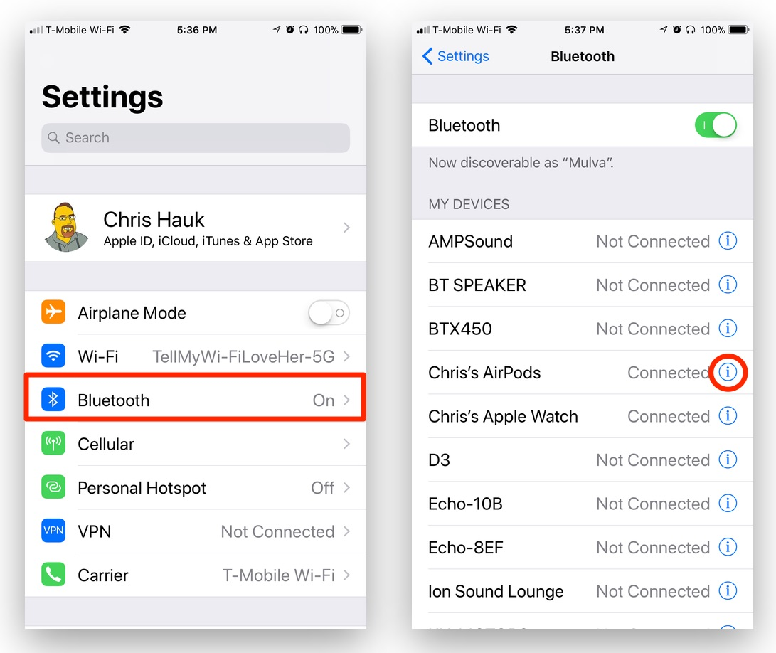 How to Customize Your AirPods Controls in iOS 11
