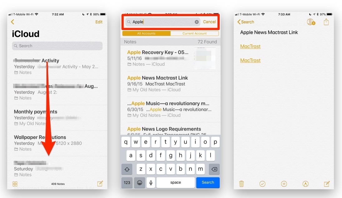 How To Use the Search Function in Notes on Your iOS Device