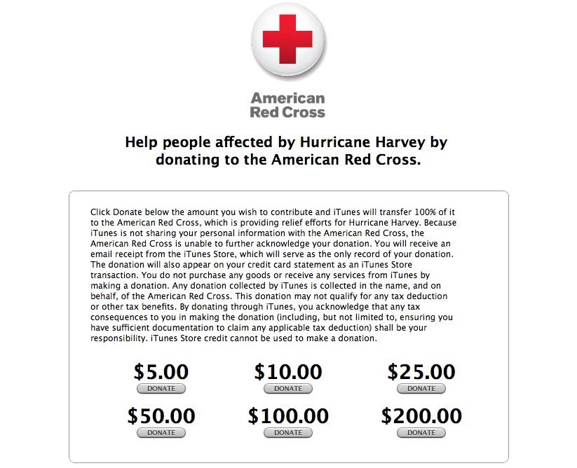 Apple Has Raised Over $3 Million for Hurricane Harvey Relief Efforts