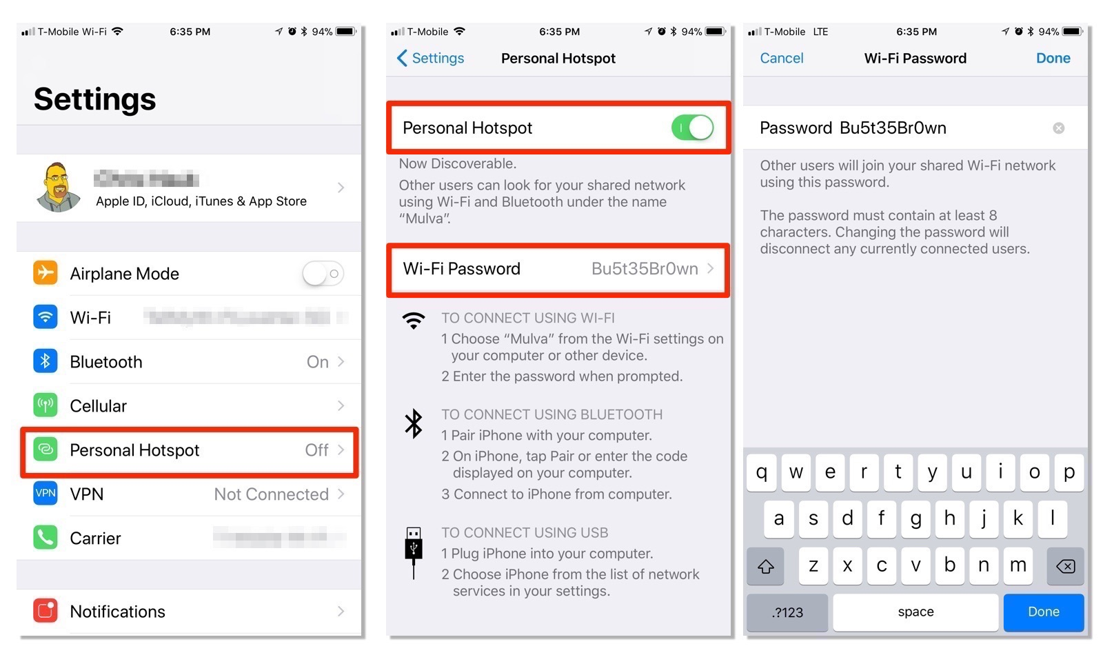 how to set up hotspot on iphone 6 how to set up and secure a personal hotspot on your iphone 21010