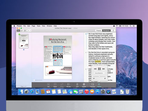 MacTrast Deals: Prizmo 3 Scanning for Mac - Scan with Any Capture Device & Watch Prizmo Perform OCR Before Your Eyes