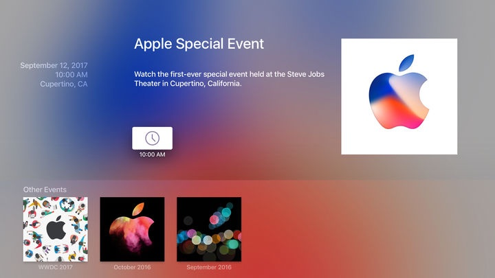 Apple TV 'Apple Events' App Gets Update Ahead of Next Week's iPhone Event