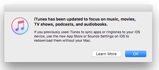 Apple Updates iTunes App, Removes iOS App Store Support
