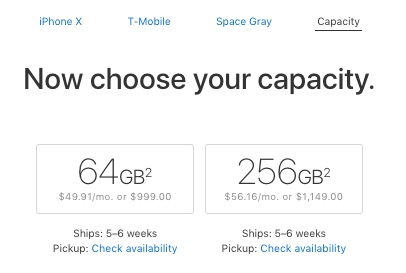 iPhone X Pre-Order Delivery Quickly Slips to 5-6 Weeks.