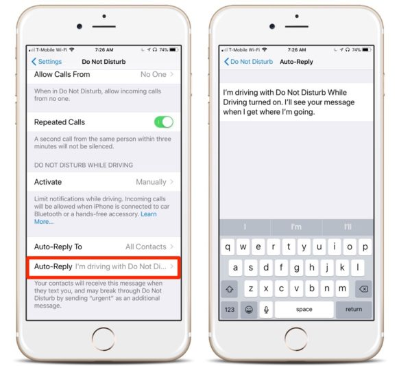 How to Custom Auto-Reply to Texts While Driving on Your iPhone Running iOS 11
