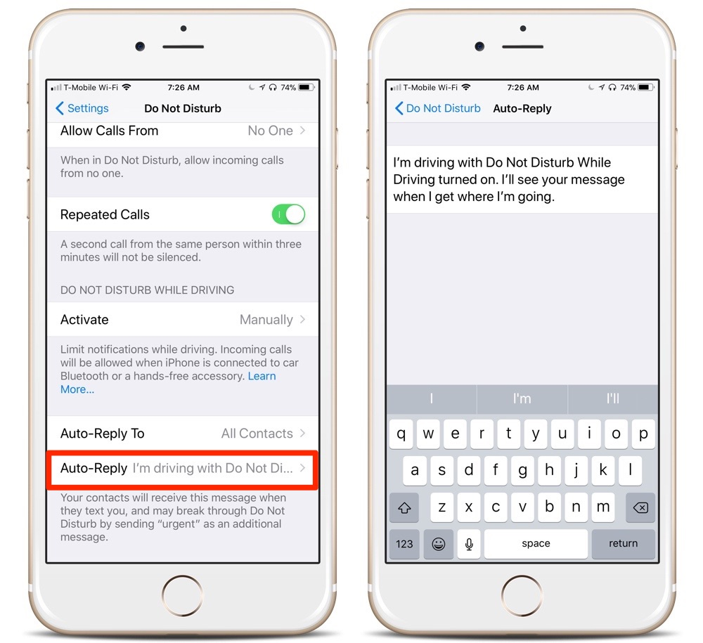 auto reply text iphone how to custom auto reply to texts while driving on your 13525