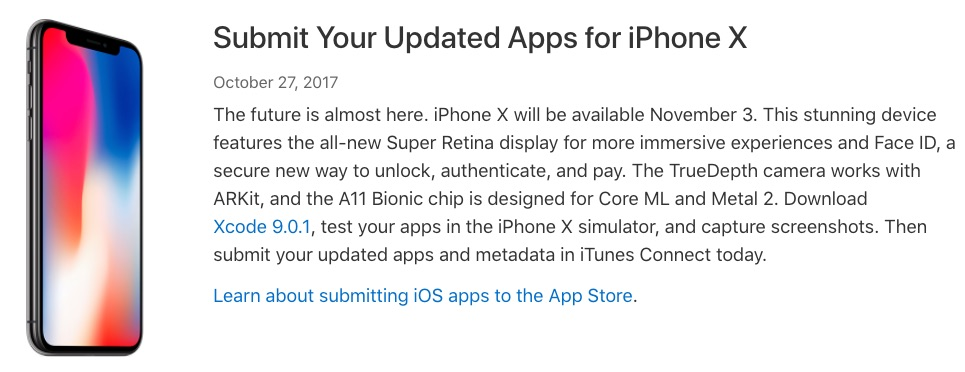 Apple Encouraging Developers to Optimize Apps for iPhone X Features