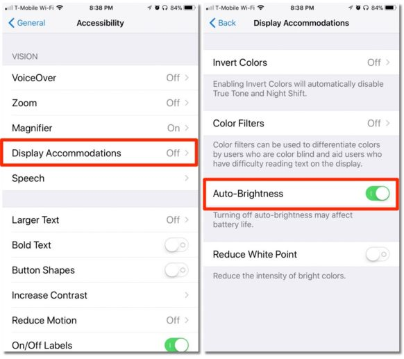 How To Find Your iPhone's Auto-Brightness Switch in iOS 11