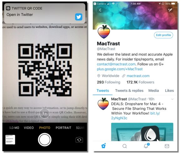How to Scan a QR Code Using Your iOS 11 Device's Camera App