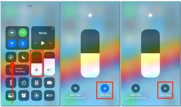 How to Control Your iOS 11 Device's True Tone Display Using Control Center