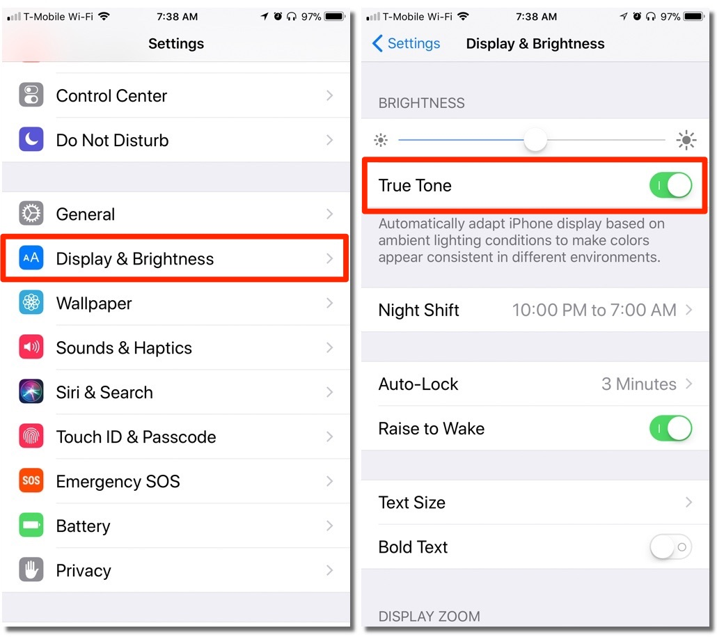 How To Control Your Ios 11 Devices True Tone Display Using Control