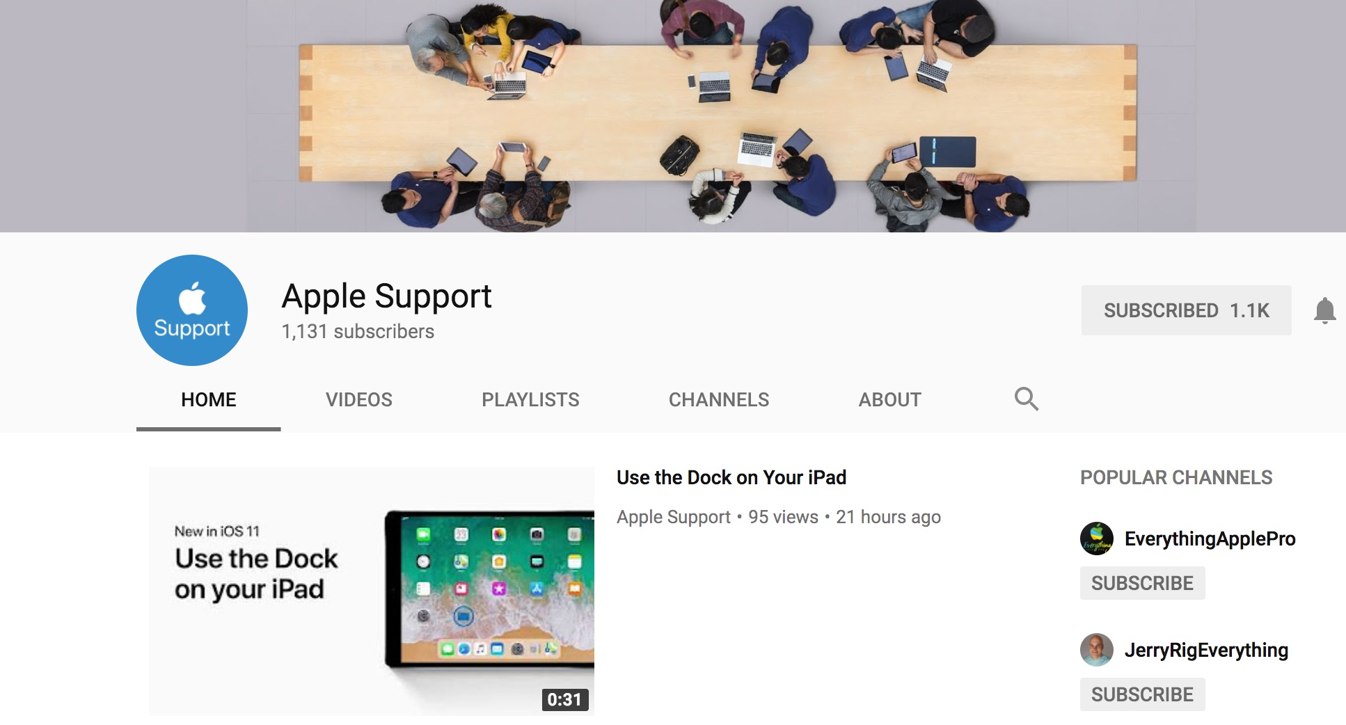 Apple Support YouTube Channel Launches - Features iOS Tips and Tricks Videos