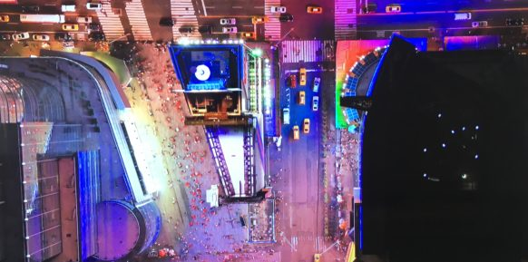 New York arial view of times square