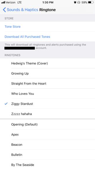 iphone default ringtone not working