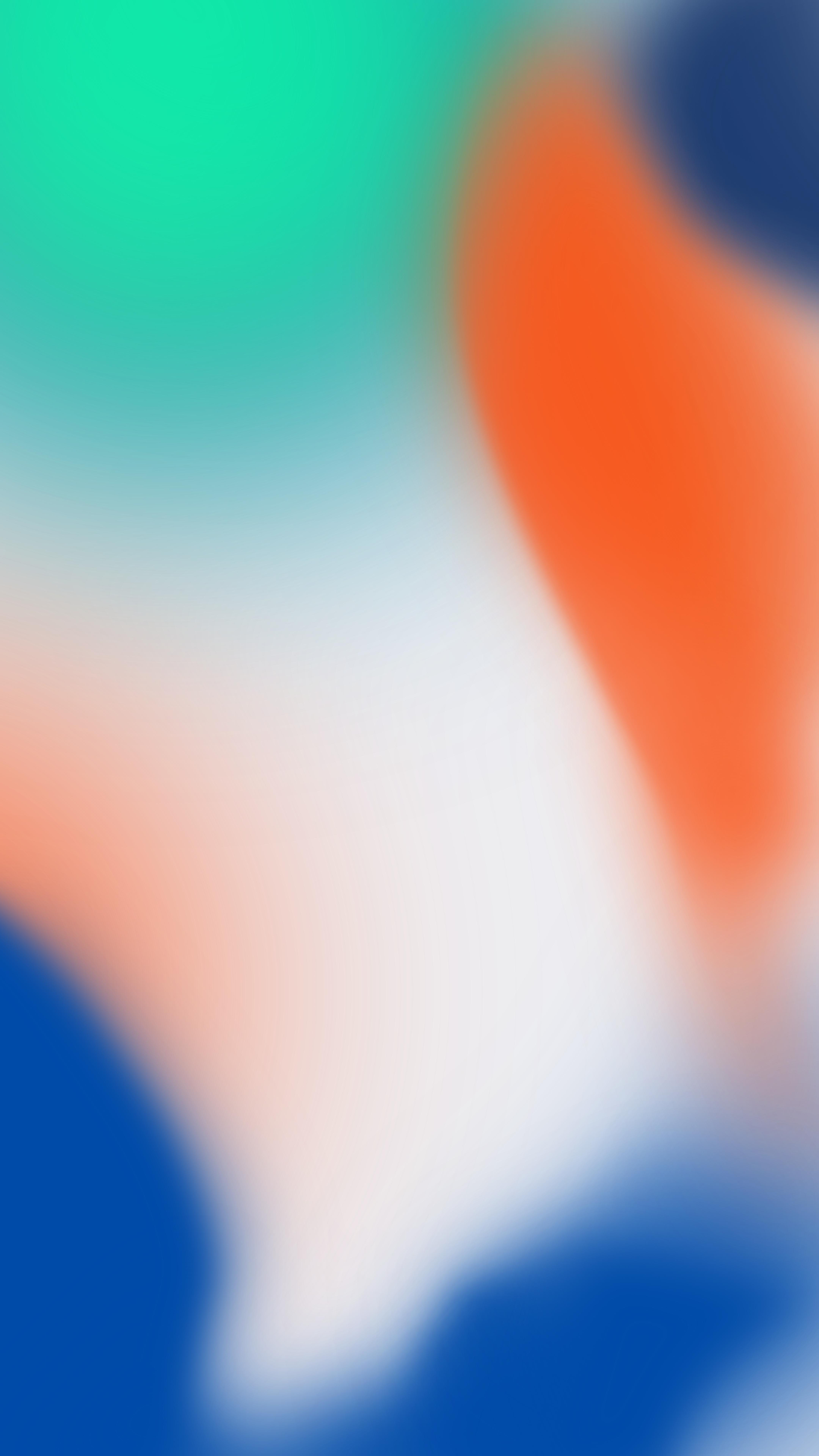 IPhone X Wallpaper Green Orange Blue