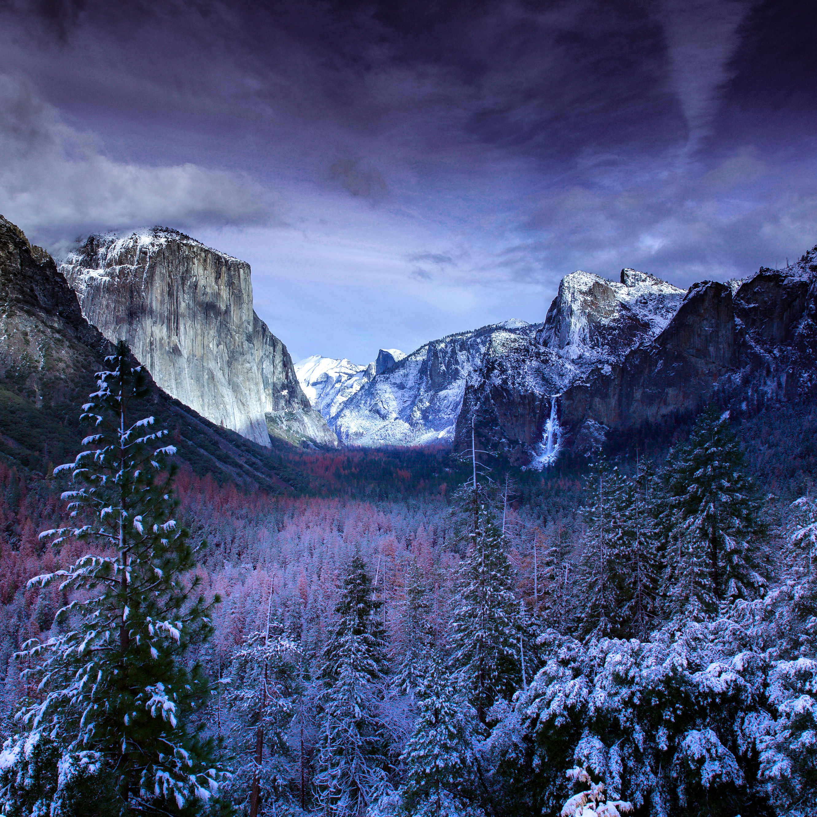 Wallpaper Weekends Yosemite Tunnel View For Mac Ipad Iphone And Apple Watch