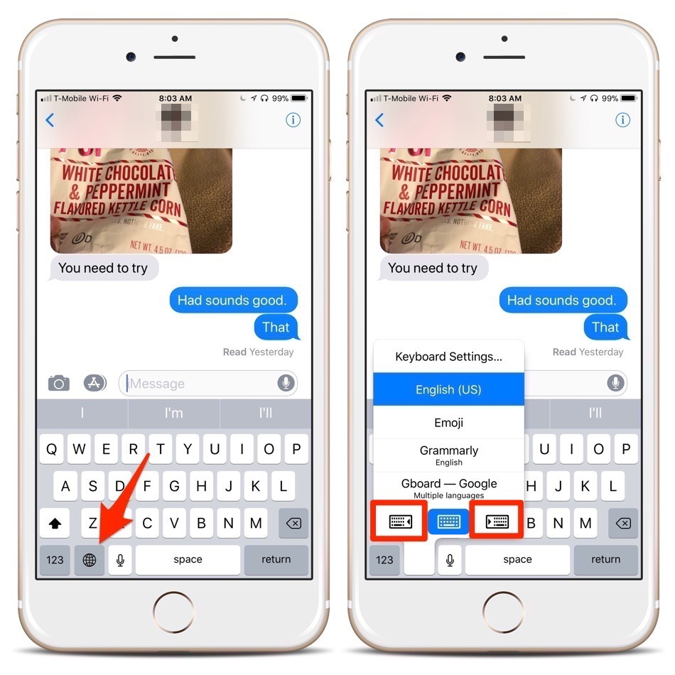 How To Turn On the iPhone's One-Handed Keyboard in iOS 11