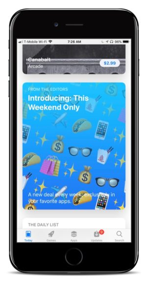Apple Debuts New 'This Weekend Only' App Deals Feature in App Store