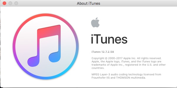 iTunes 12.7.2 Update Now Available