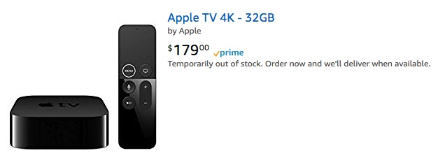 Apple TV 4K Listings Begin to Appear on Amazon