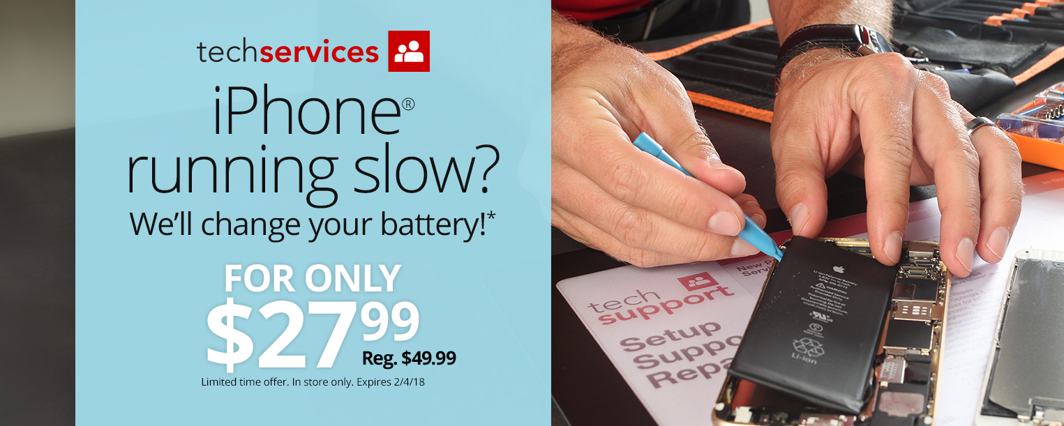 Office Depot and OfficeMax Offers $27.99 iPhone Battery Replacement Until Feb. 4