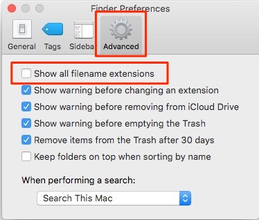 How To Show File Extensions in macOS Finder