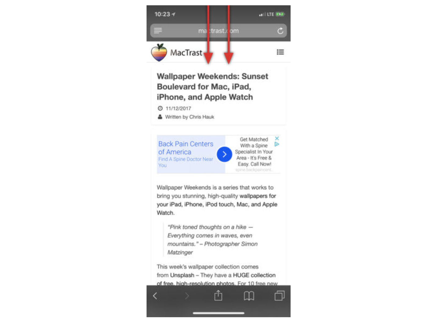 How To Get Siri to Read Anything to You_swipe_down