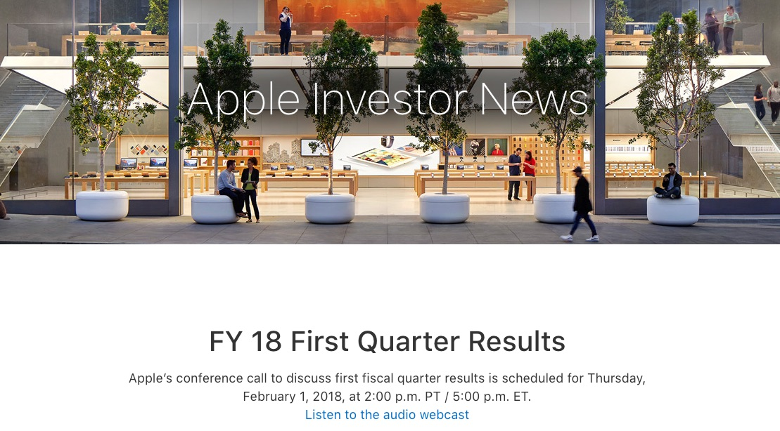 We'll Get Our First Look at iPhone X Sales When Apple Announces Fiscal Q1 2018 Earnings on February 1